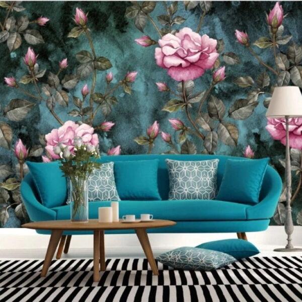 Pink Rose Wall Murals Wallpaper