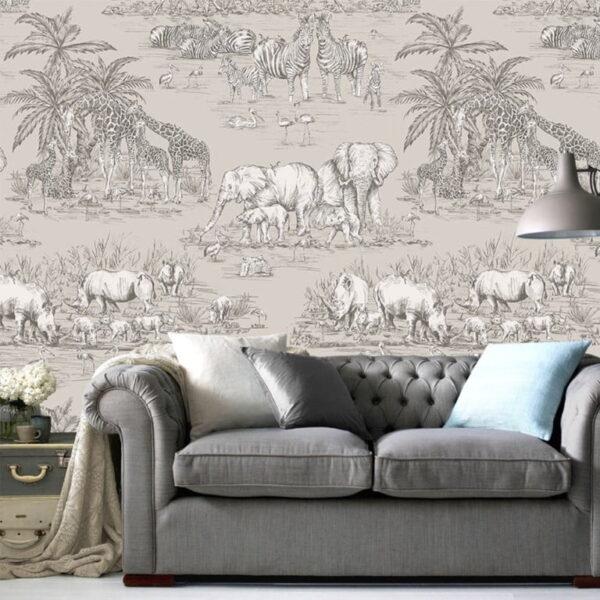 Sketch Animals Wall Murals Wallpaper