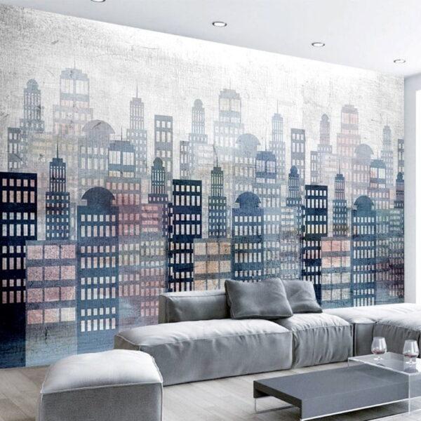 Skyscraper City Wall Murals Wallpaper