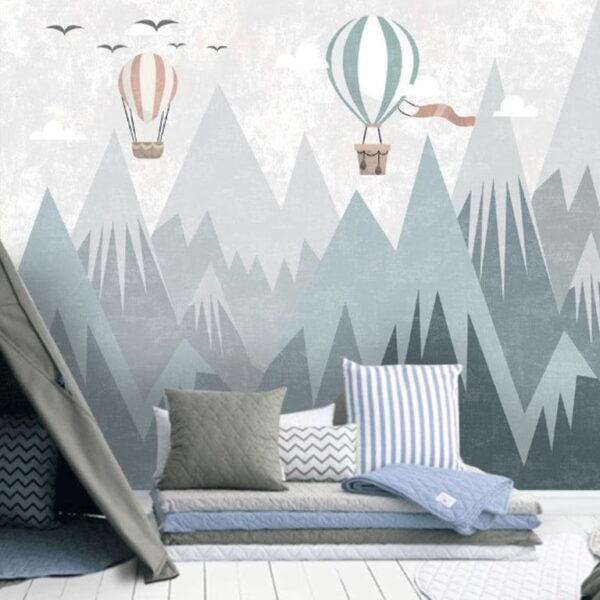 Snowy Mountains Wall Murals Wallpaper