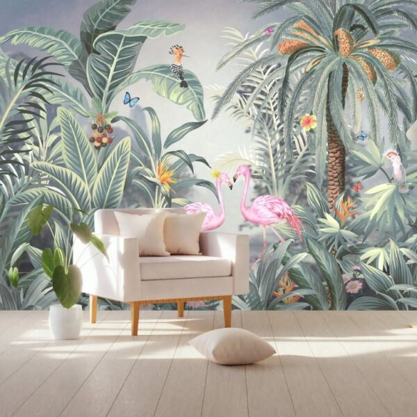 Soft Color Jungle Wall Murals Wallpaper