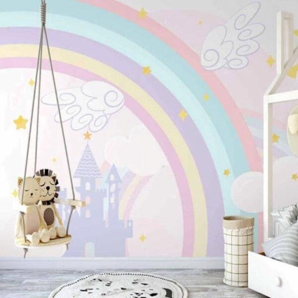 Caste and Rainbow Wall Murals Wallpaper