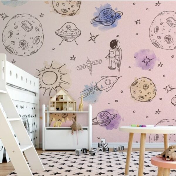 Space Objects Wall Murals Wallpaper