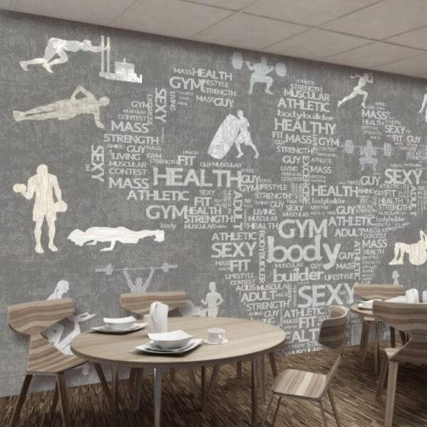 Gym Fitness Wall Murals Wallpaper