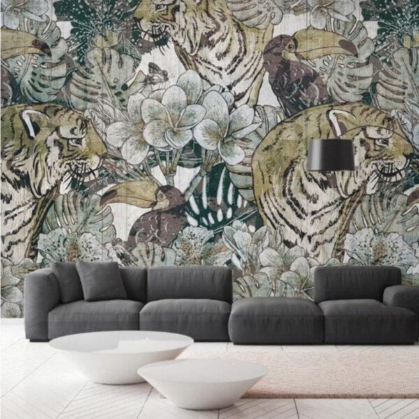 Tiger Wall Murals Wallpaper