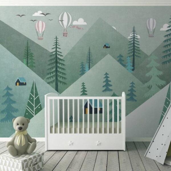 Triangle Mountain Wall Murals Wallpaper
