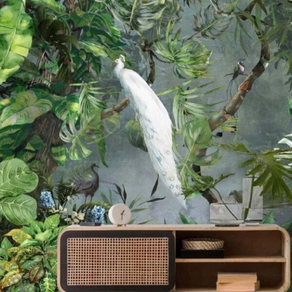 Tropical Green Plants Wall Murals Wallpaper