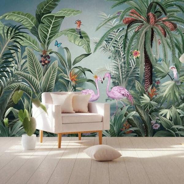 Tropical Jungle Wall Murals Wallpaper
