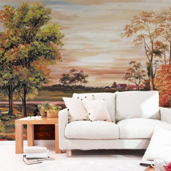Reddish Sunset Wall Murals Wallpaper