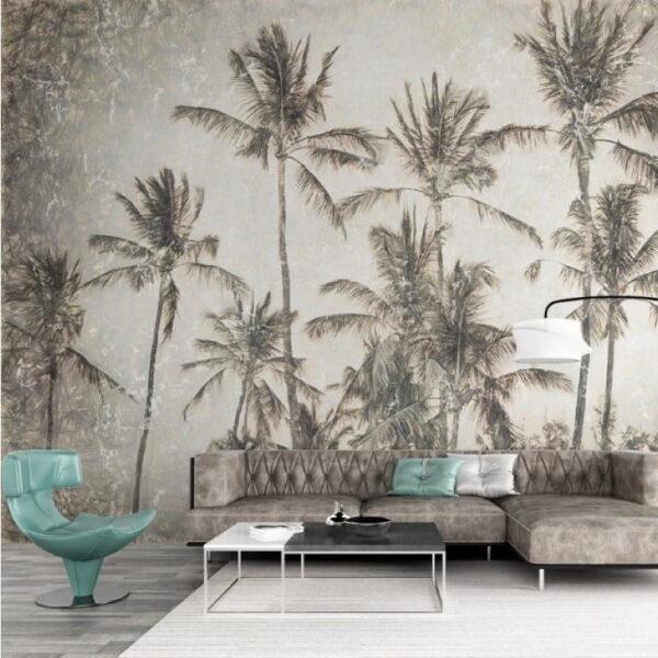 Coconut Trees Wall Murals Wallpaper