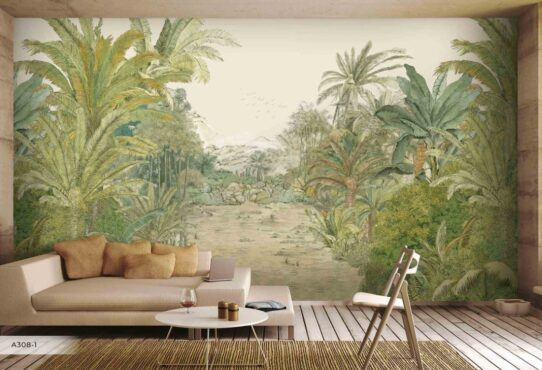 Vintage Style Forest Wall Murals Wallpaper