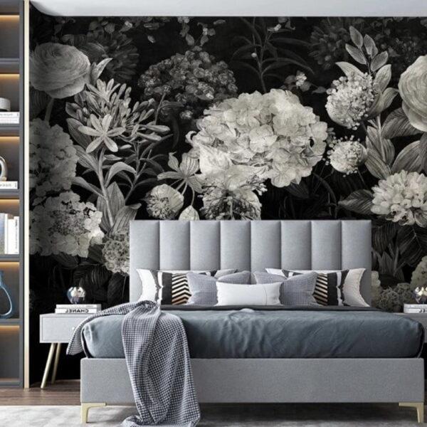 Vintage Flowers Wall Murals Wallpaper