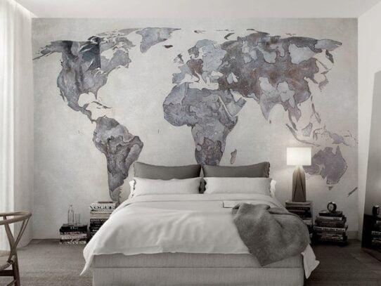 Vintage World Map Wall Murals Wallpaper