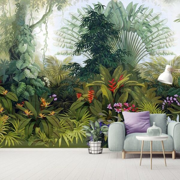 Rainforest Plants Wall Murals Wallpaper