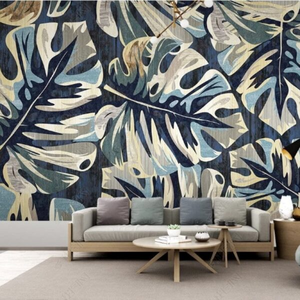 Watercolor Leaves Wall Murals Wallpaper