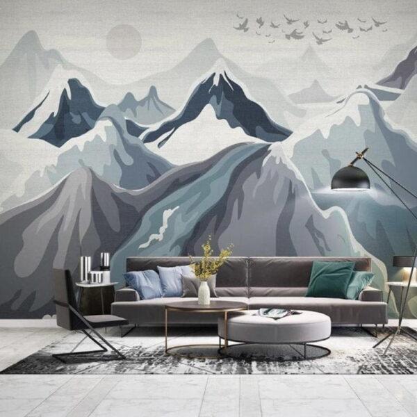 Mountain Landscape Wall Murals Wallpaper