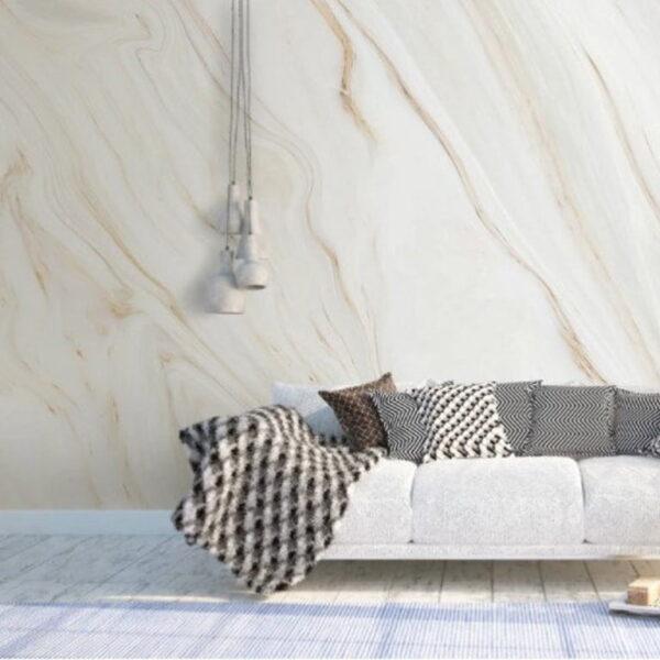 White Beige Marble Wall Murals Wallpaper