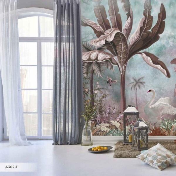 White Swan Wall Murals Wallpaper